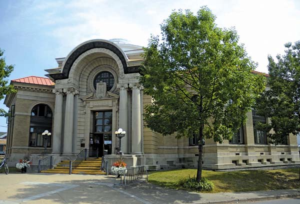 The front exterior of the Gloversville Public Library. (The Leader-Herald/Bill Trojan)