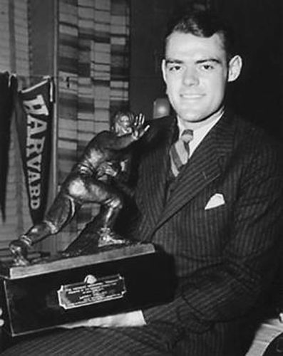 Yale's Larry Kelley was the first winner of the Heisman Trophy in 1936. (Photo submitted)