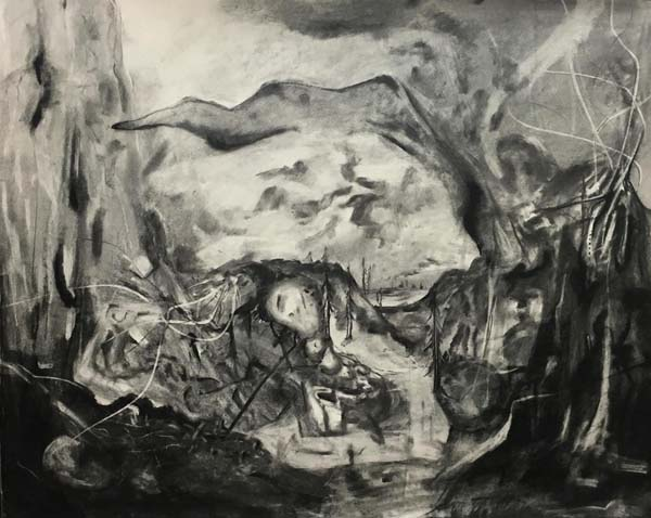 A charcoal drawing by Tyler Schrader. (Photo submitted)