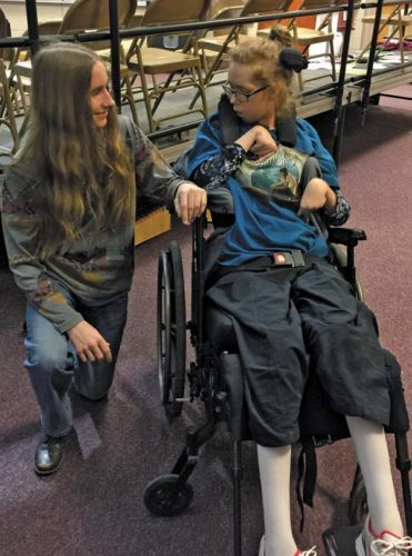 Jennifer meets with local musician Sawyer Fredericks while he was in town performing. Music has always been an important part of Jennifer's life. (Photo submitted)