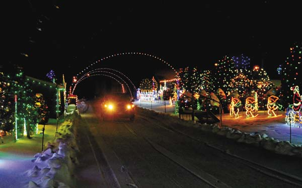 The Leader-Herald/Bill Trojan  The Kristy Pollak Holiday Lights display in Amsterdam on Thursday.