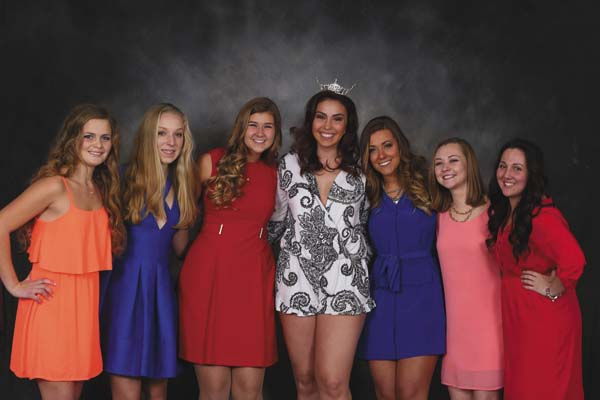 From left, Victoria Opalka; Emily Ross; Chelsea Cirillo; Lexi Swatt, Miss Fulton County 2016; Tristen Saterlee, Emily Weitz, Heather Graves. (Photo submitted)