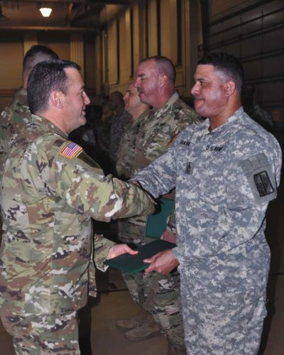 Soldiers recieve military awards for support at Army's Joint Readiness Training Center in July. (Photo submitted)