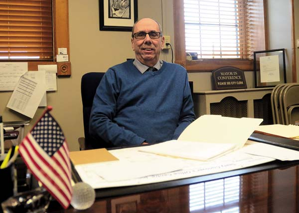 Johnstown Mayor Vern Jackson in his office at Johnstown City Hall on Tuesday. (The Leader-Herald/Bill Trojan)