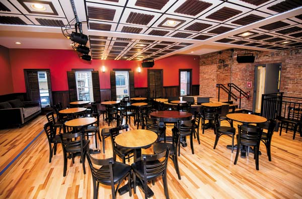 Caffe Lena, billed as the nation's oldest continuously operating coffeehouse, has undergone a major renovation, paid in part by the folk music greats who played here in downtown Saratoga Springs. (The Associated Press)