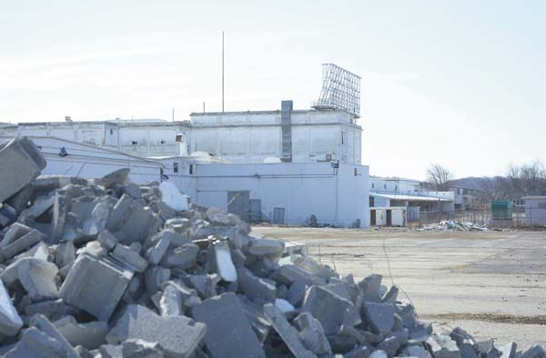 Teardowns of several buildings began in 2015, but cleanup of the debris was not completed. Now, the eastern portion of the plant will come down. (Leader-Herald file photo)