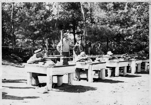 The firing line at the 1947 benchrest competition at Pine Tree Rifle Club in Johnstown in pictured. (Photo courtesy of Pine Tree Rifle Club archives)