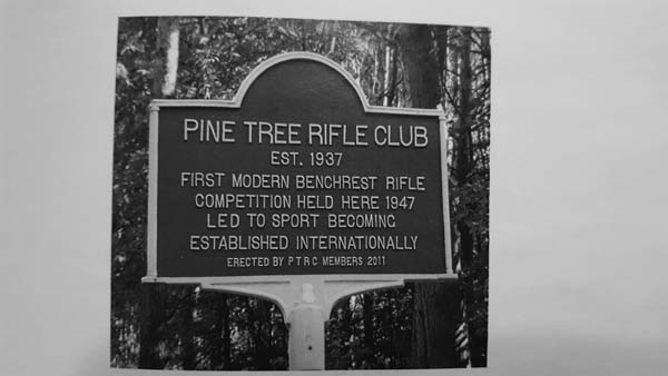 A road marker near Pine Tree Rifle Club in Johnstown details its history. (Photo courtesy of Pine Tree Rifle Club archives)