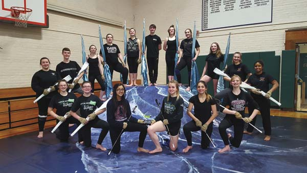 The Greater Johnstown varsity winter guard members, from left in back row, are Lindsay Blackwell, Tyler Kretser, Makayla Byrum, Sheyenne Cook, Hannah Richardson, Mike Simone, Rhiannon Smith, Mallory DeFrancis, Mackenzie McSpirit, Hannah Putman, Tatyana Rosario. Kneeling, from left, are Elizabeth Festa, Michele Hamm, Breanna Beekman, Alyssa Bevington, Casey VanValkenburgh, and Eve Woods. (Photo submitted)
