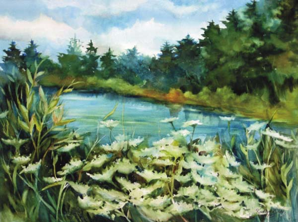 """Pictured is """"Summer Breeze"""", a watercolor painting by Kathleen Oakes. Oakes is the featured artist at Micropolis Art Gallery through April. (photo submitted)"""