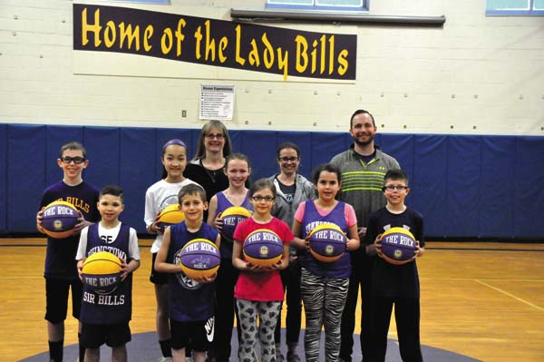 The Greater Johnstown School District physical education department hosted its annual foul shooting contest for students in third through sixth grade at Warren Street Elementary School on March 11. This year's winners were: Baylee Cooper and Cole Downing (third grade); Casey Lamori and Devin Ward (fourth grade); Isabell Ropeter and Kaden Chittenden (fifth grade); Ayaka Sasaki and Branden Jones (sixth grade). (Photo submitted)