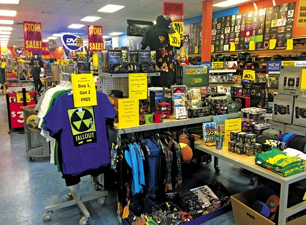 The FYE store in the Johnstown Shopping Center was originally expected to close on March 30 to make way for another, undisclosed, business. But that closing date has been pushed back to April 30. (The Leader-Herald/Bill Trojan)