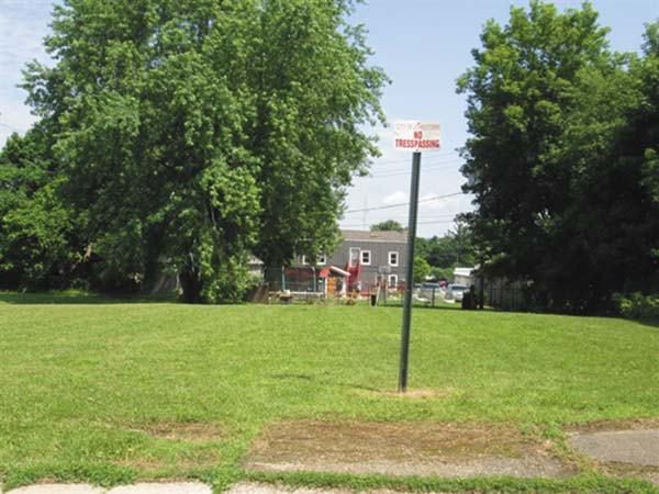 Pictured is 9-21 Hoosac St. in Johnstown. The Common Council rejected a $1,000 offer for the plot. (Source: Johnstown City tax map  website)