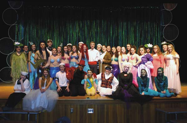 "The cast from the Drama Club for this weekend's double production of Disney's ""Little Mermaid Jr.""  (Photo submitted)"