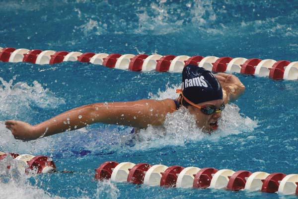 Kylie Cotugno swims the butterfly during the Adirondack Gold Short Course Championships meet at Robison Pool at the Rensselaer Polytechnic Institute in Troy. (Photo contributed by Sarah Dzikowicz)