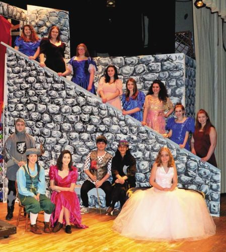 "Some of the cast members of ""Once Upon A Mattress,"" which will play to three showings this weekend at Gloversville High School. (The Leader-Herald/Bill Trojan)"