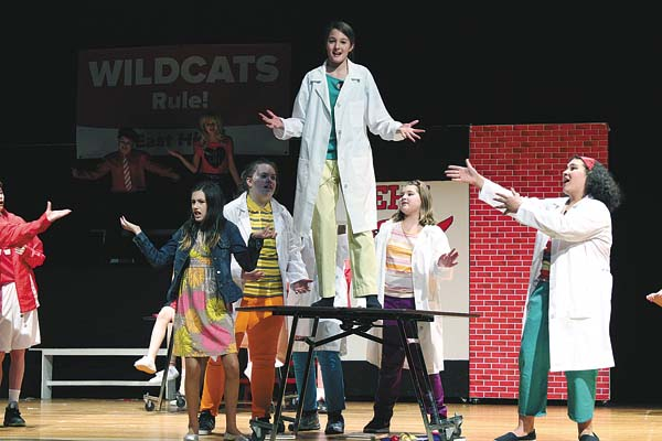 """The Gloversville Middle School Drama Club will perform """"Disney's High School Musical Jr."""" Friday, Saturday and Sunday. Cast members are shown. (Photo submitted)"""