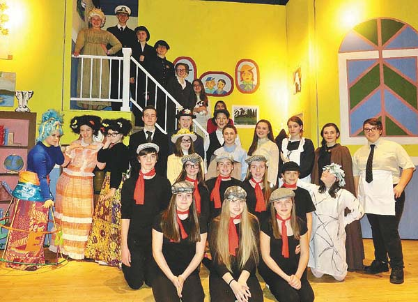 """The Northville Central School drama club will present """"Mary Poppins"""" today, Saturday and Sunday. Members of the cast are shown. (Photo submitted)"""