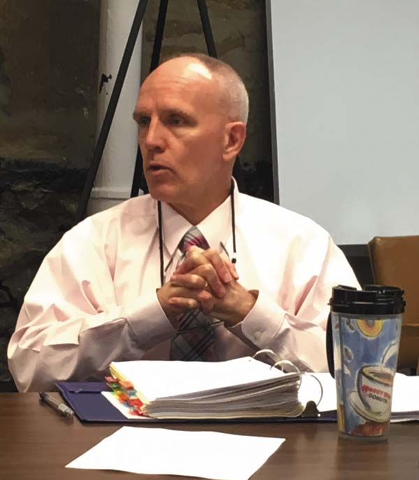 Fulton County Senior Planner Sean Geraghty discusses solar regulations with the Fulton County Planning Board Tuesday. (The Leader-Herald/Jason Subik)