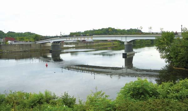 An overview of the Mohawk Valley Gateway Overlook Pedestrian Bridge in Amsterdam Aug. 31.  (The Leader-Herald/Bill Trojan)