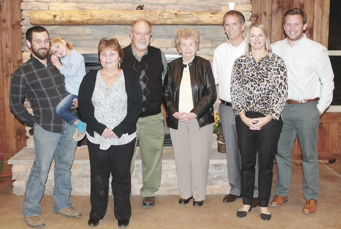 The Maines family, of David M. Maines and Associates Roofing Contractors, was recognized Tuesday evening at the annual Farm City Banquet as the business family of the year. The Maines have been in business since 1989.