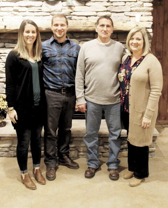 The Peachey family, of Peachey Farm, was recognized Tuesday evening at the annual Farm City Banquet as the farm family of the year. The Peachey family hosted the 2016 Third Grade Farm Tour.   Sentinel photos by LAUREN KERSHER