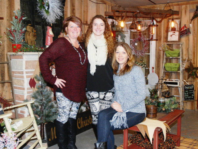 Sentinel photo by BUFFIE BOYER Alysha Bunch, front, and Tracy Lynn Gisewhite, left, and Kathy Swartz, have joined their creative efforts to open the new shop My Craft Attic, on Ferguson Valley Road.