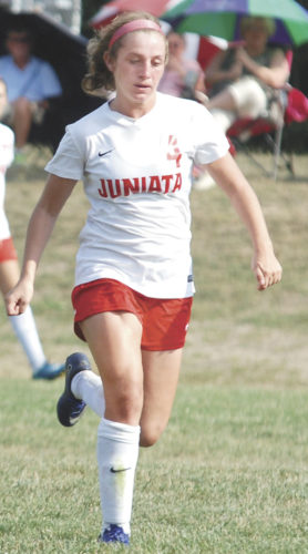 Sentinel file photo Josie Swartz was one of four Juniata girls soccer players named on Tri-Valley League's all-star team.