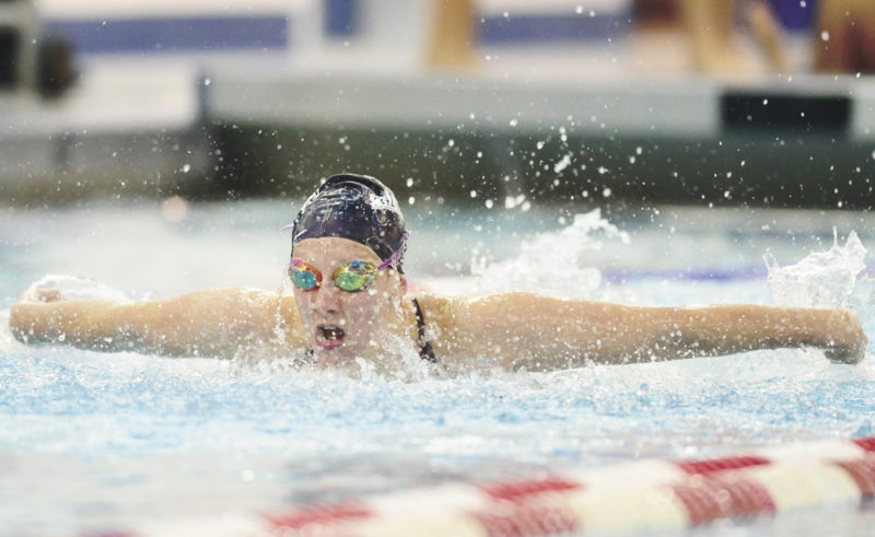 Sentinel file photo Mount St. Mary's Sarah Bonson was the first Mifflin County swimmer to receive a Division I scholarship, Bonson was recently honored by Mount St. Mary's College for her contributions as part of senior day.