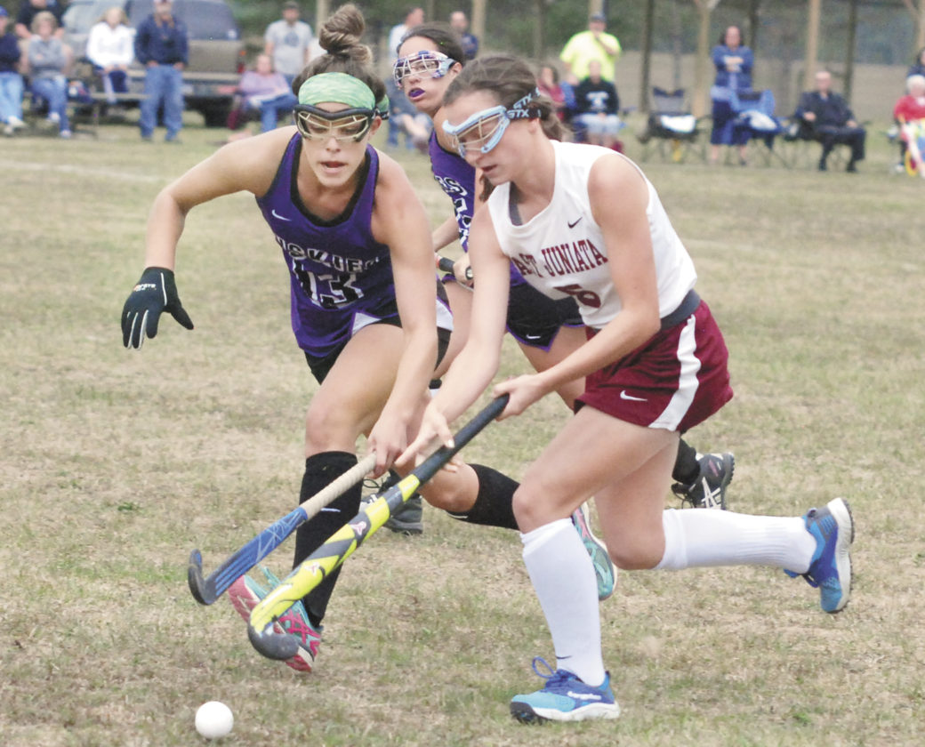 Sentinel file photo Mifflin County defender Marcella Pupo (13) was recently named a first team Mid-Penn field hockey all-star. Pupo's teammate Cam Warnick was also named first team. Gabby Mink, Emily Shilling and Daphne Snook were all named second team.