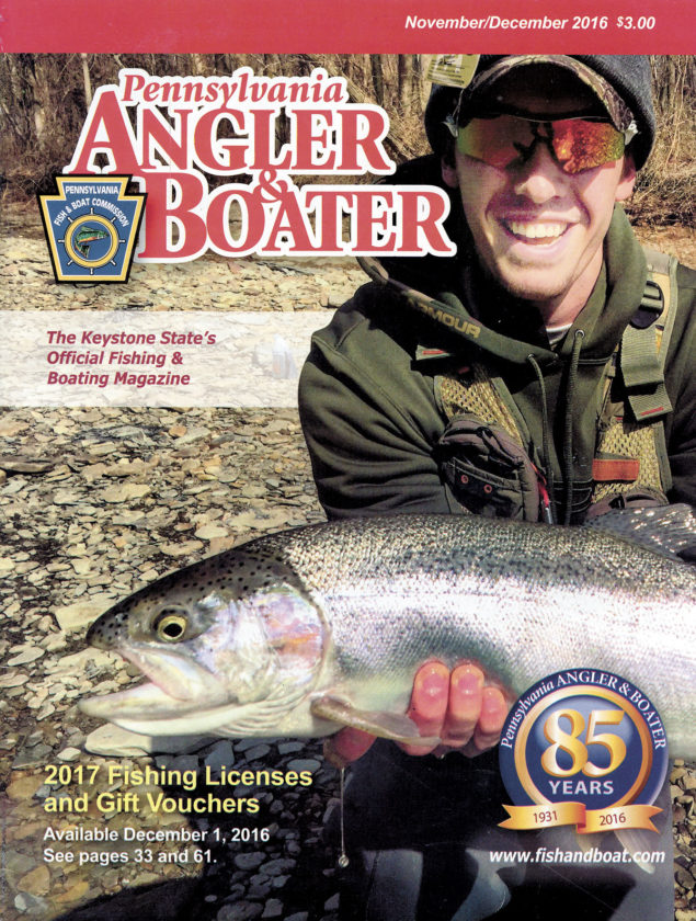 "The cover of the current issue of the Fish and Boat Commission's magazine, ""Pennsylvania Angler & Boater,"" features Juniata County resident and avid fisherman Bailey Coder. Coder was a standout athlete at East Juniata High School."