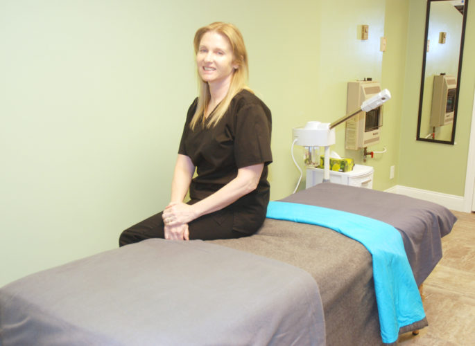 Sentinel photo by BUFFIE BOYER Owner Moe Dunkle has opened Big Valley Day Spa on East Main Street in Belleville.