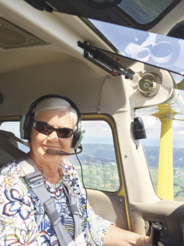Photo courtesy of Beth Reifsnyder Beth Reifsnyder, a nurse known locally for her service on the Mifflin County School Board, also flies at the Mifflin County Airport and serves on the Airport Authority's Board of Directors.