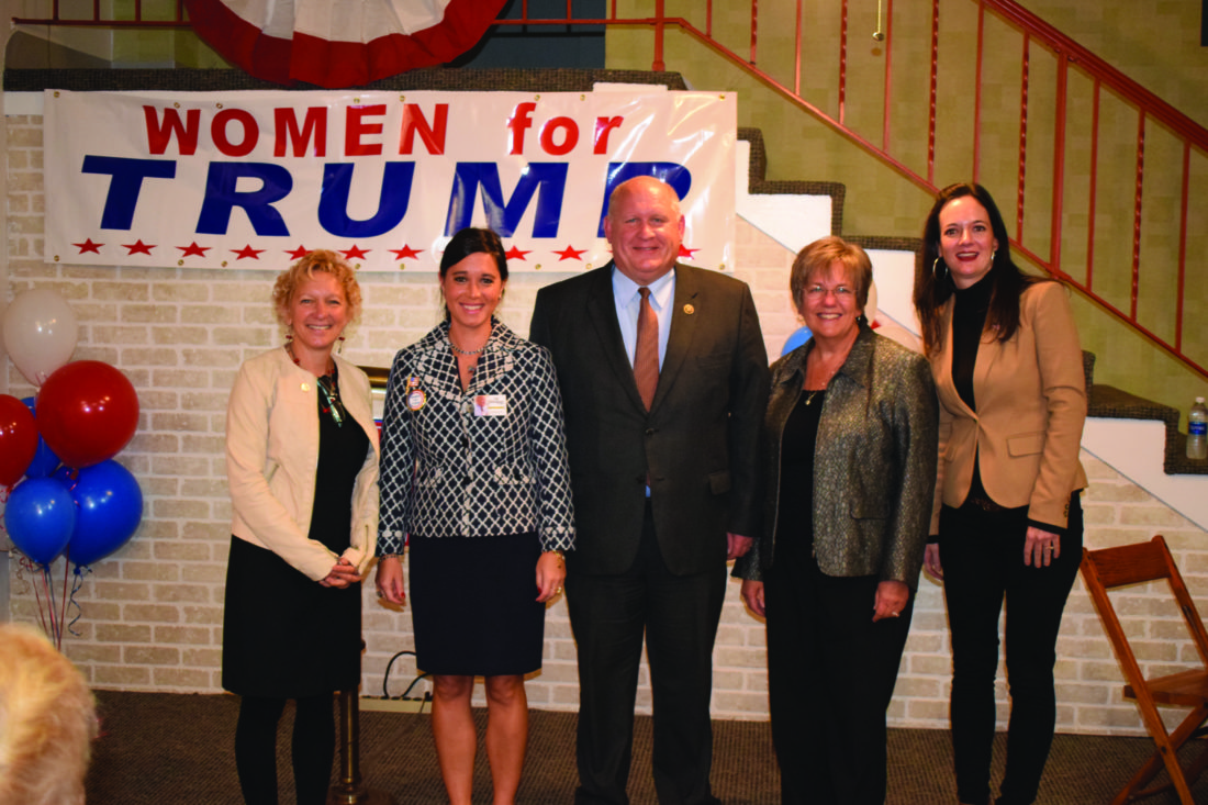 "PHOTO PROVIDED At a ""Women for Trump"" rally are, from left, Marcie Lynch Assetta, Dr. Jessica Hosley, Rep. Glen ""GT"" Thompson, Penny Ammerman-Thompson and Stephanie Borowicz."