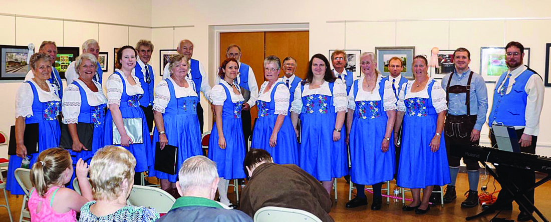 PHOTO PROVIDED The Gesang Verein Harmonia Chorus performed at the Thomas T. Taber Museum in Williamsport recently.
