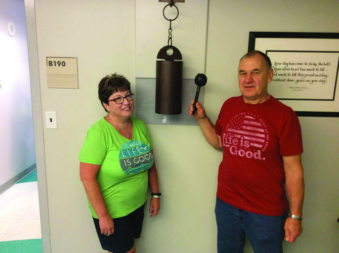 PHOTO PROVIDED Life is good for husband and wife, Mona and Dave Calhoun of Wayne Township, as they battle Dave's prostate cancer together.