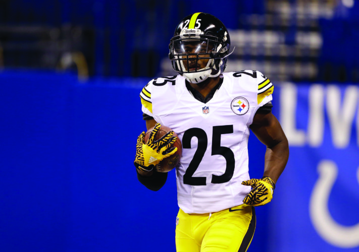 Pittsburgh Steelers' Artie Burns (25) makes a catch before an NFL football game between the Indianapolis Colts and the Pittsburgh Steelers, Thursday, Nov. 24, 2016, in Indianapolis. (AP Photo/Michael Conroy)