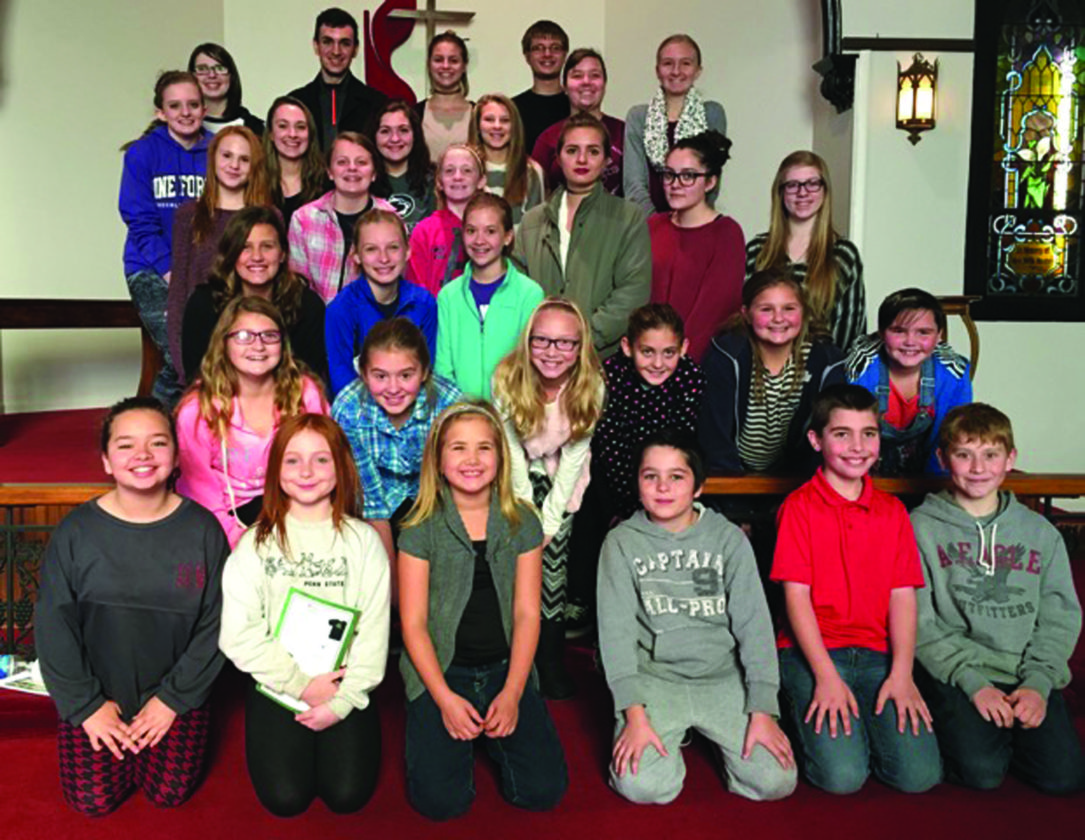 PHOTO PROVIDED This recent photo shows the Millbrook Playhouse 2016-17 Youth Ensemble.