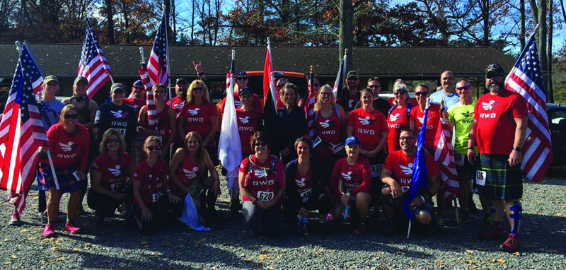 The Lock Haven-Williamsport chapter of Team Red, White and Blue participated in several events recently, including the Third Annual Sweat for Vets Power Climb 5K/10K in Antis Township