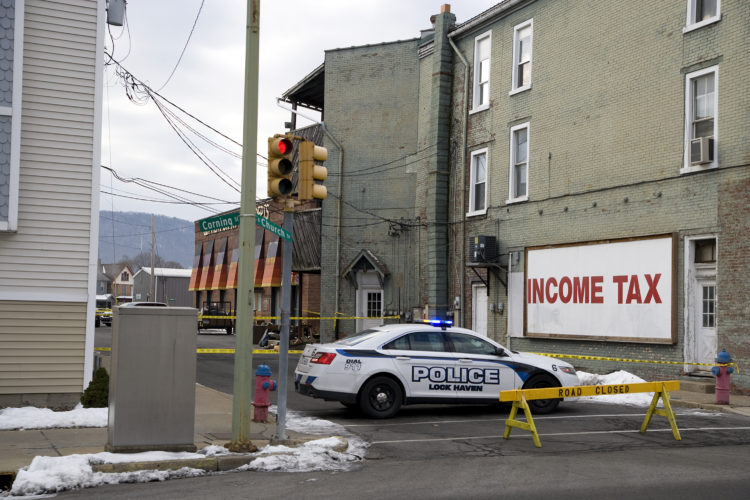 Lock Haven city police  cordoned off a section of Corning street at Church Street this morning after a body was reportedly found in an apartment. Police offered no details.