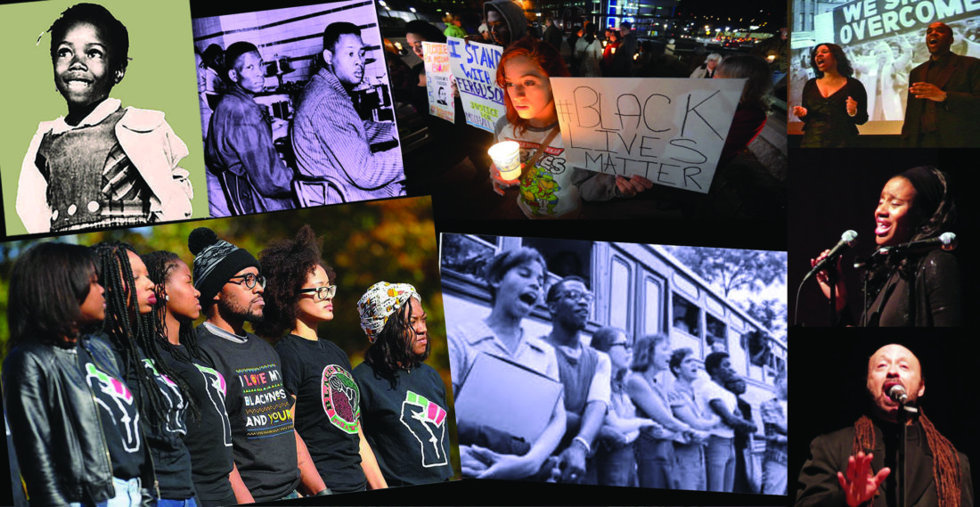 PHOTO PROVIDED This photo provided by Lock Haven University shows imagery related to Martin Luther King Jr. Day.