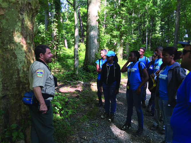 PHOTO PROVIDED Members of the Philadelphia Corps learn about the outdoors in this 2016 photo.