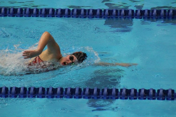 Maegen Sorgen captured first place in the 200-yard freestyle.