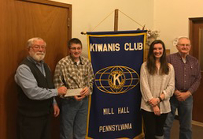 PHOTO PROVIDED Pictured, from left are Kiwanis citrus sale chairperson Galen Donmoyer, YHEC members Lance Bowman and McCartney Register, and Kiwanis citrus sale co-chair Ed Peiffer.
