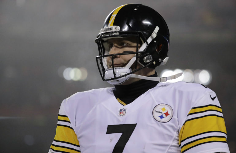Pittsburgh Steelers quarterback Ben Roethlisberger (7) walks off the field during the second half of an NFL divisional playoff football game against the Kansas City Chiefs Sunday, Jan. 15, 2017, in Kansas City, Mo. (AP Photo/Charlie Riedel)