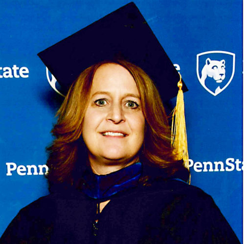 Photo Provided Amy Breon in her cap and gown at PSU
