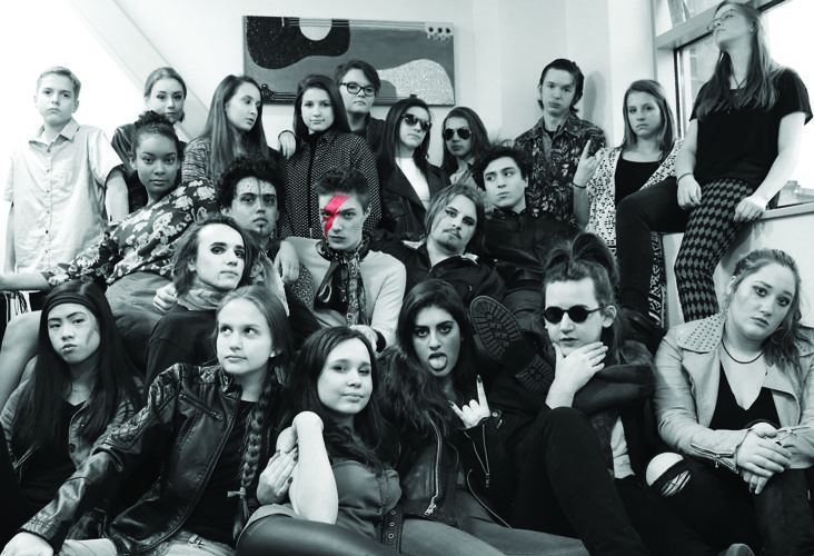 """PHOTO PROVIDED Students of the Uptown Music Collective are presenting the show """"The Rise and Fall of Ziggy Stardust: A Tribute to David Bowie"""" today through Saturday in Williamsport."""