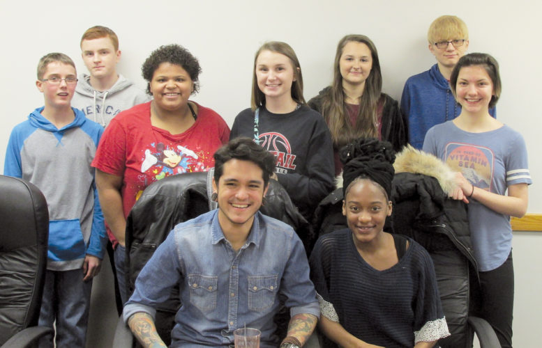 PHOTOS PROVIDED Bucktail Leadership students visiting LHU last month are, from left, in front: Adriano Simon and Kayla Brathwaite, and in back: Treavor Burrows, Benjamin Probert, Shiane Acor, Aaliyah McGowan, Karen Bunsick, Elliot Probst and Sylvia Moore.