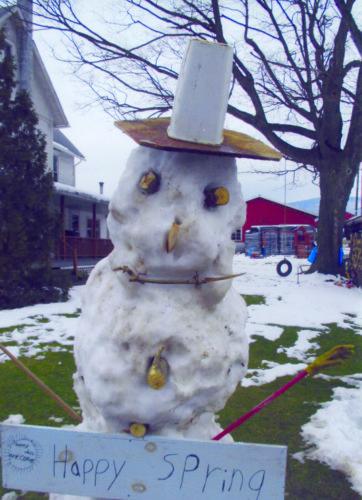 Glick family snowman