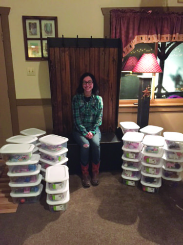 PHOTO PROVIDED Charlotte Rebuck has made hundreds of Jared Boxes and is distributing them to area hospitals as her senior project at Sugar Valley Rural Charter School.